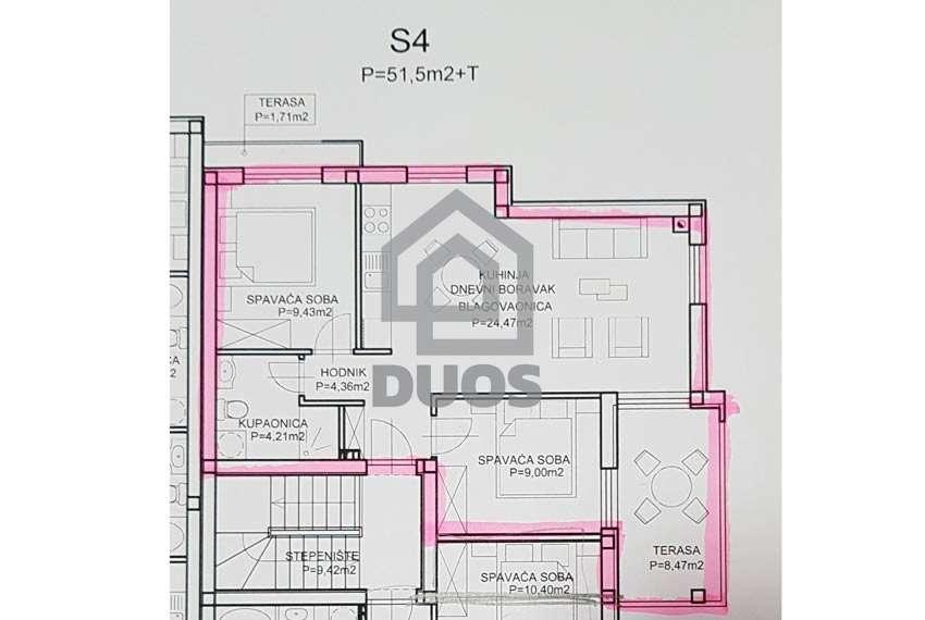 Žaborić - novogradnja - odmah useljivo - dvije spavaće sobe - prvi red do mora -2.kat