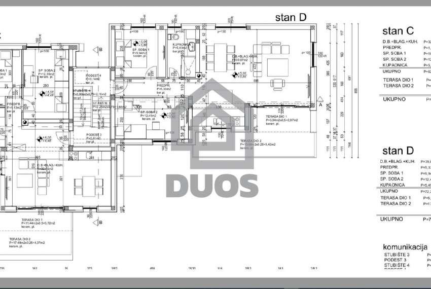 Novogradnja - Murter - dvije spavaće - pogled - parking - 1.kat 3