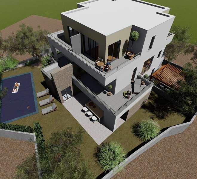 NEW BUILDING - Murter - 95.3 m2- sea view - duplex