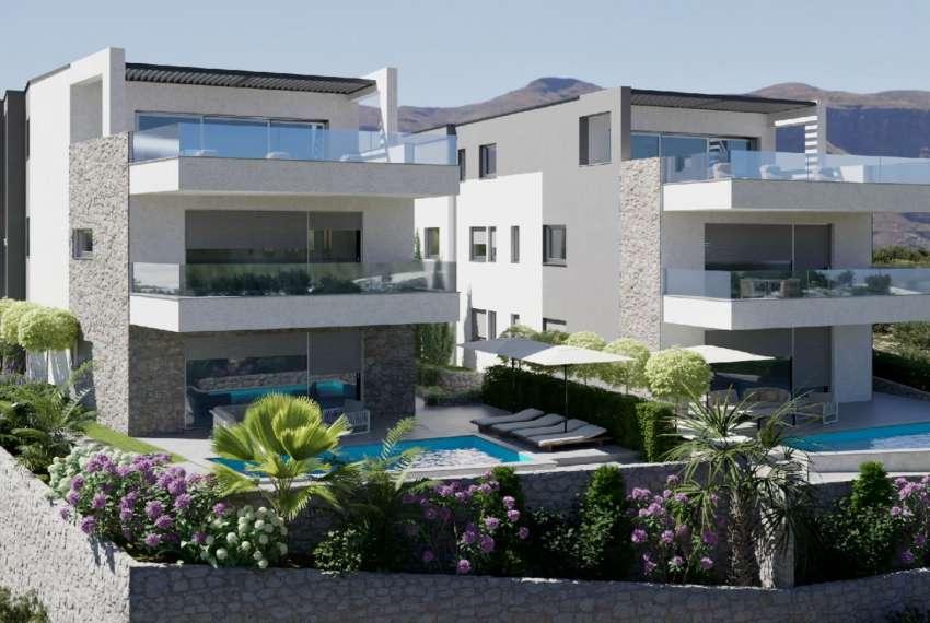 Novogradnja - apartman s dvije spavaće sobe - blizina plaže - Murter - vrt 2
