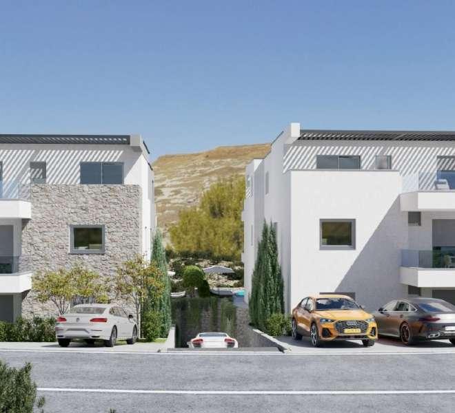 Novogradnja - apartman s dvije spavaće sobe - blizina plaže - Murter - vrt