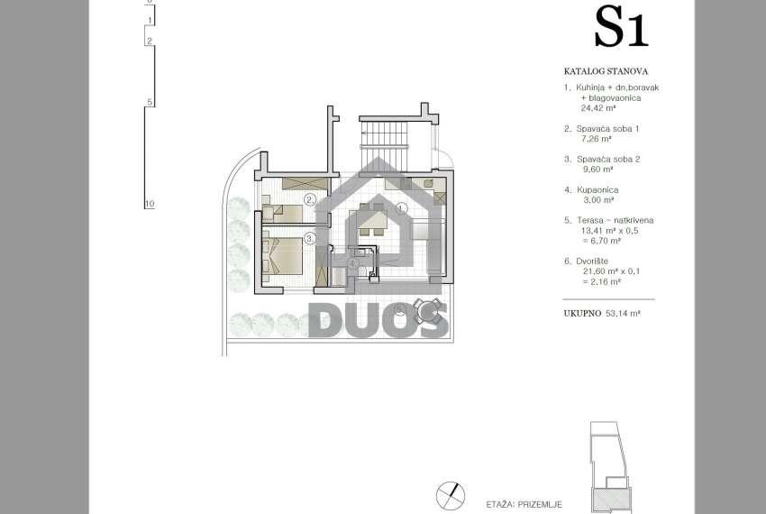 Neubau - Apartment mit drei Schlafzimmern - in Strandnähe - Murter 1