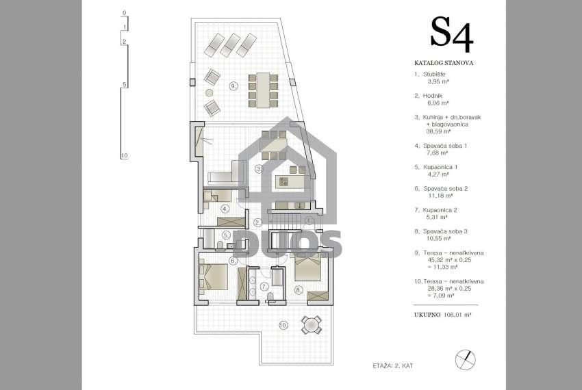 Novogradnja - stan s tri spavaće sobe - blizina plaže - Murter 7