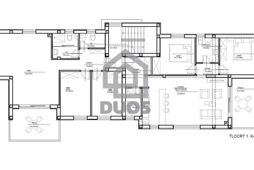 NOVOGRADNJA - stan na prvom katu- drugi red do mora - 2 spavaće sobe 6